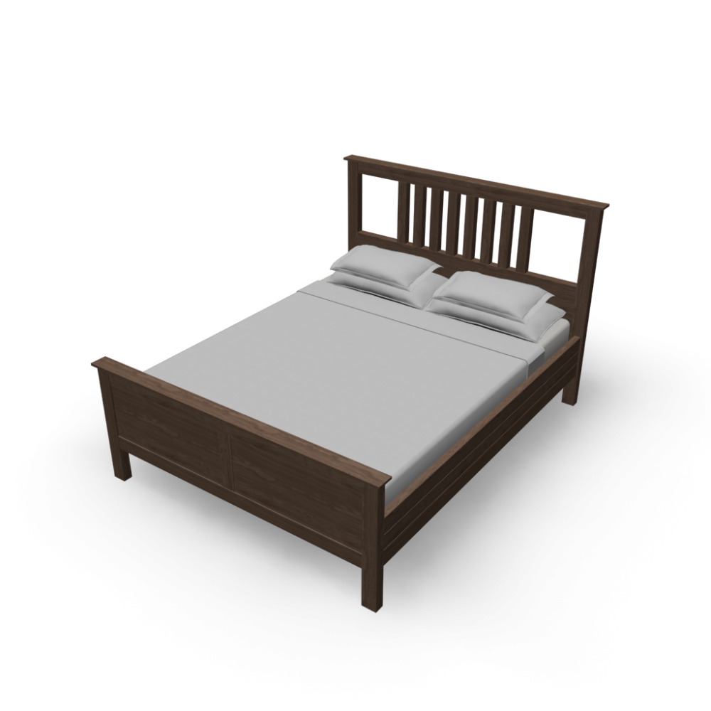 hemnes bed frame design and decorate your room in 3d. Black Bedroom Furniture Sets. Home Design Ideas
