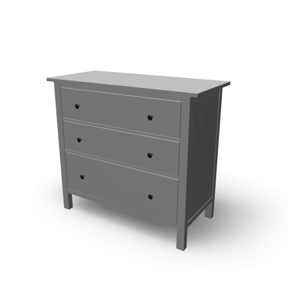 hemnes 3 drawer chest design and decorate your room in 3d. Black Bedroom Furniture Sets. Home Design Ideas