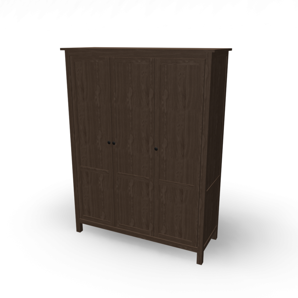 Hemnes Wardrobe With 3 Doors Design And Decorate Your Room In 3d