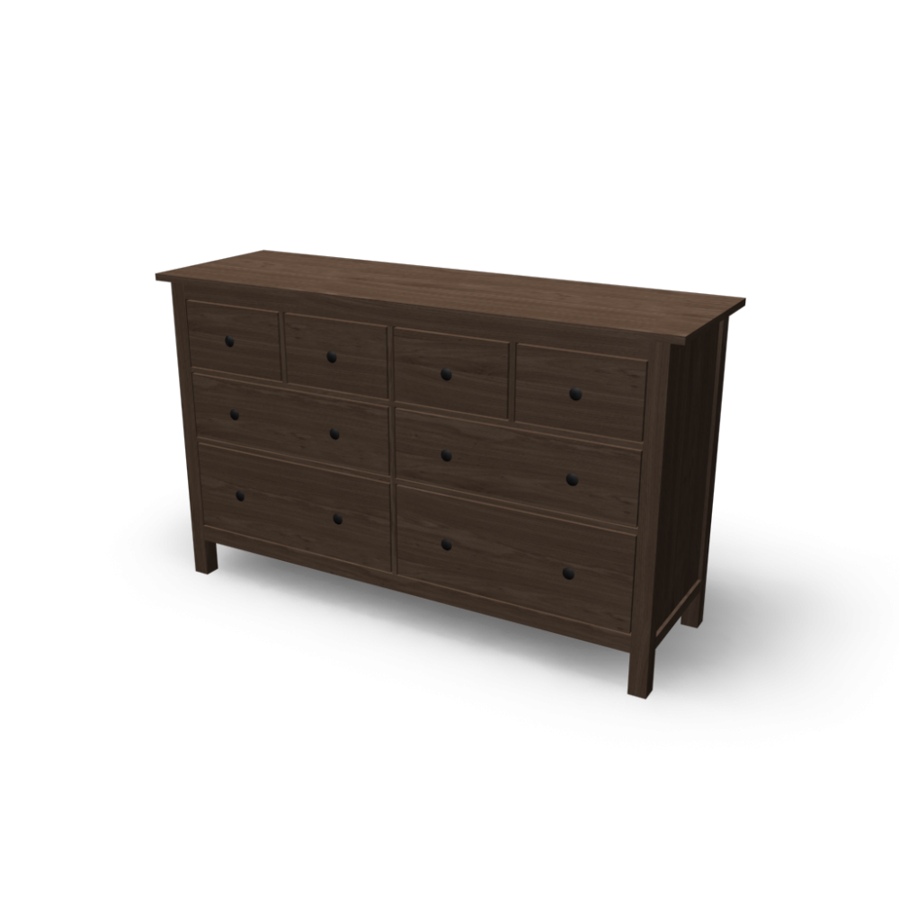 Ikea Hemnes Frisiertisch Mit Spiegel Weiß ~ HEMNES 8 drawer dresser  Design and Decorate Your Room in 3D