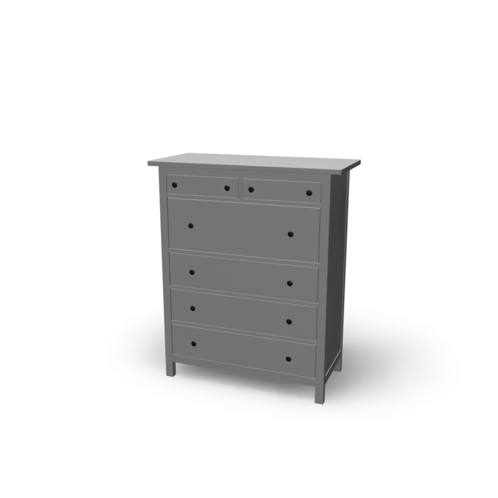 Kommode ikea hemnes  HEMNES 6-drawer chest - Design and Decorate Your Room in 3D