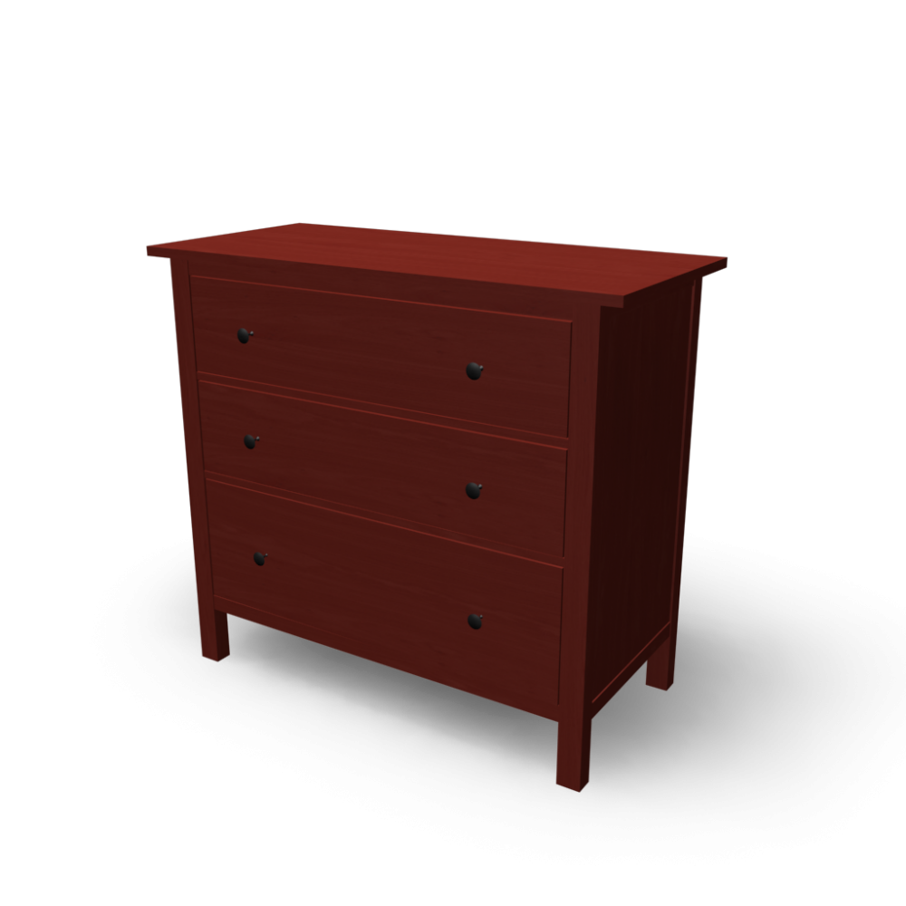 HEMNES 3 Drawer Chest Design And Decorate Your Room In 3D