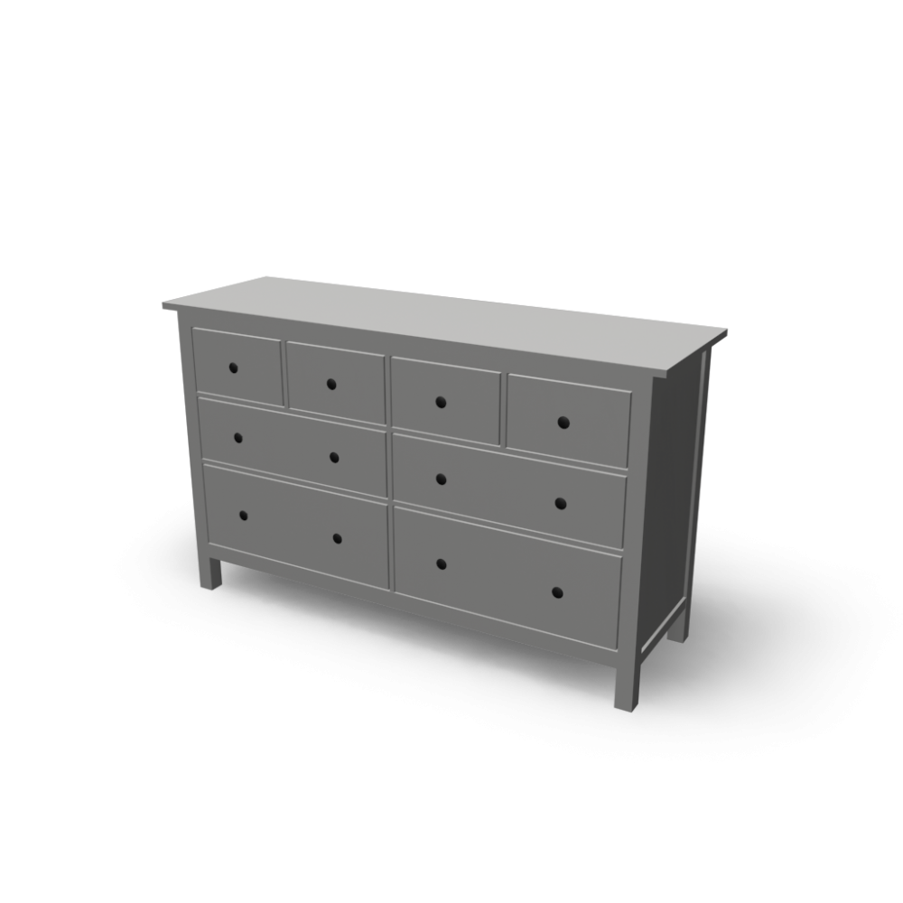 hemnes kommode mit 8 schubladen einrichten planen in 3d. Black Bedroom Furniture Sets. Home Design Ideas