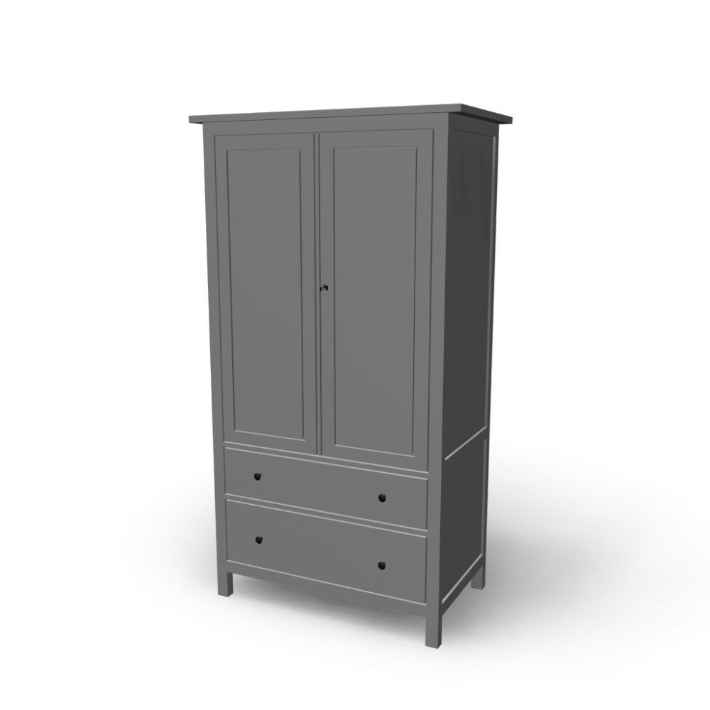 hemnes kleiderschrank einrichten planen in 3d. Black Bedroom Furniture Sets. Home Design Ideas