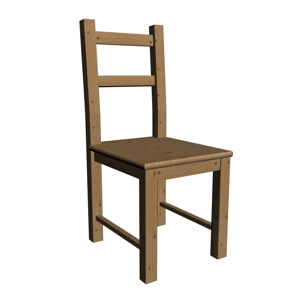 Ivar Chair Pine Design And Decorate Your Room In 3d