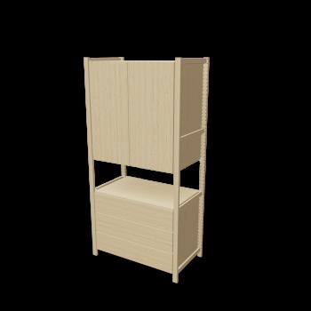 ivar 1 elem schrank kommode einrichten planen in 3d. Black Bedroom Furniture Sets. Home Design Ideas