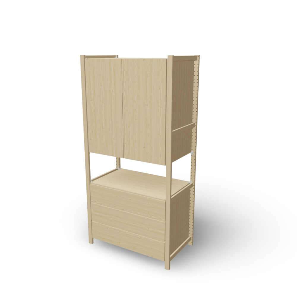 ivar 1 sections cabinet chest design and decorate your room in 3d. Black Bedroom Furniture Sets. Home Design Ideas