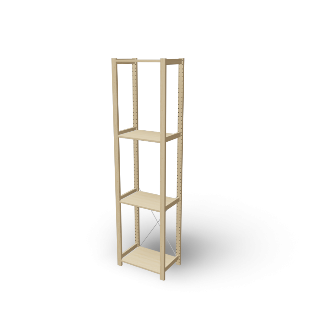 Ikea Ivar Regal ivar 1 section with shelves design and decorate your room in 3d