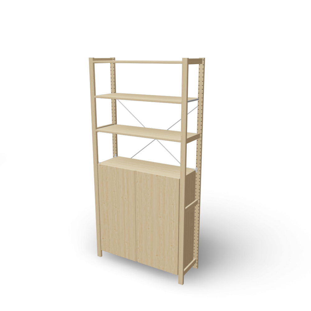ivar 1 sections/shelves/cabinet - design and decorate your room in 3d