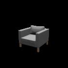 KARLSTAD Sessel für die 3D Raumplanung