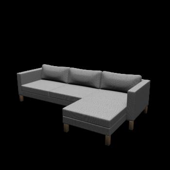 KARLSTAD 3er-Sofa und Récamiere von IKEA