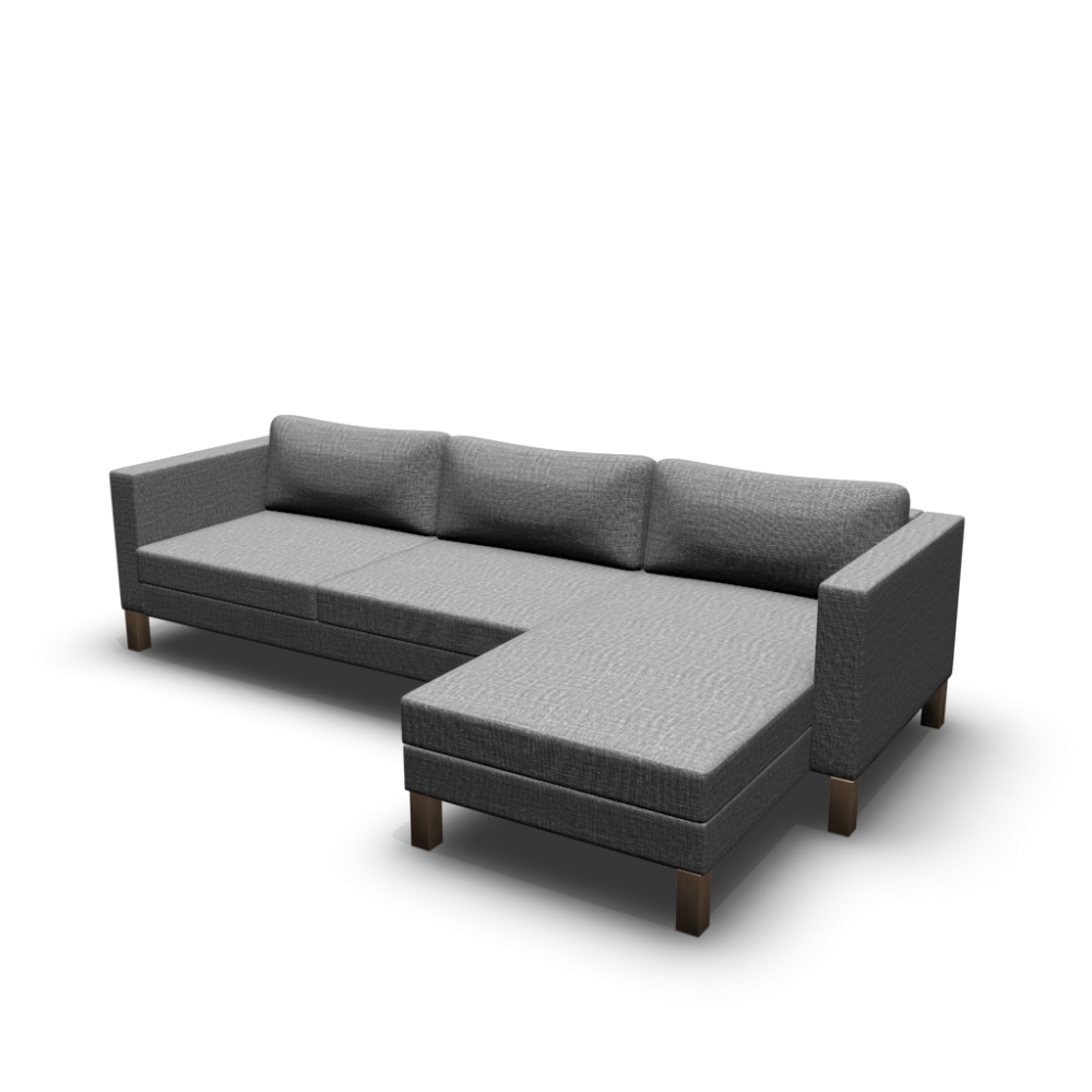 karlstad two seat sofa and chaise longue design and decorate your room in 3d. Black Bedroom Furniture Sets. Home Design Ideas