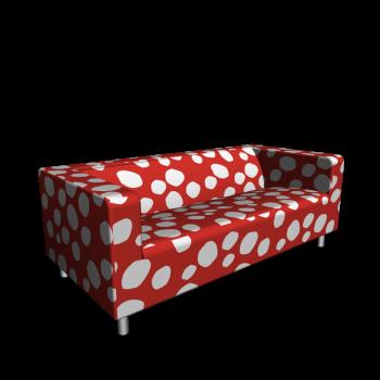 KLIPPAN 2er-Sofa, Dottevik rot von IKEA