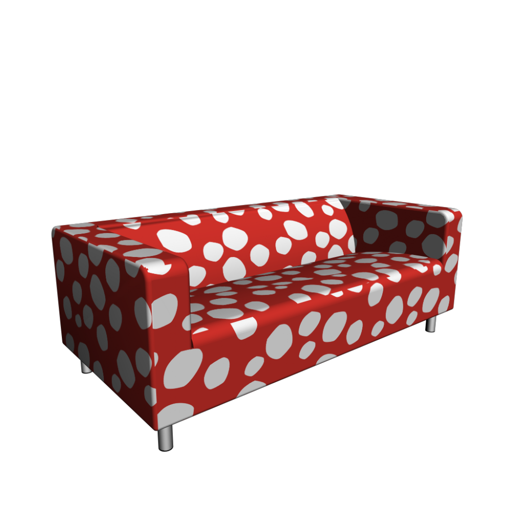 klippan 2er sofa dottevik rot einrichten planen in 3d. Black Bedroom Furniture Sets. Home Design Ideas