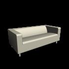 KLIPPAN 2er-Sofa, Alme natur für die 3D Raumplanung