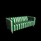 KLIPPAN 2er-Sofa, Randen grün für die 3D Raumplanung