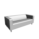 KLIPPAN 2er-Sofa, Granån weiß für die 3D Raumplanung