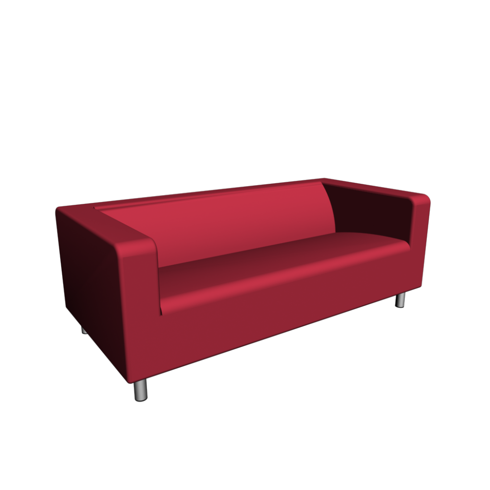 klippan 2er sofa gran n rot einrichten planen in 3d. Black Bedroom Furniture Sets. Home Design Ideas