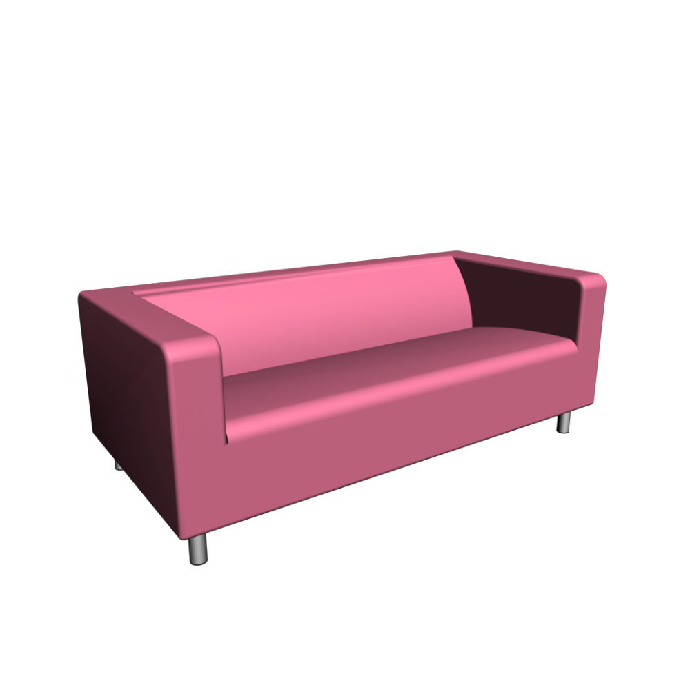 klippan 2er sofa gran n rosa einrichten planen in 3d. Black Bedroom Furniture Sets. Home Design Ideas
