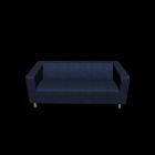 KLIPPAN 2er-Sofa, Vansta dunkelblau von IKEA