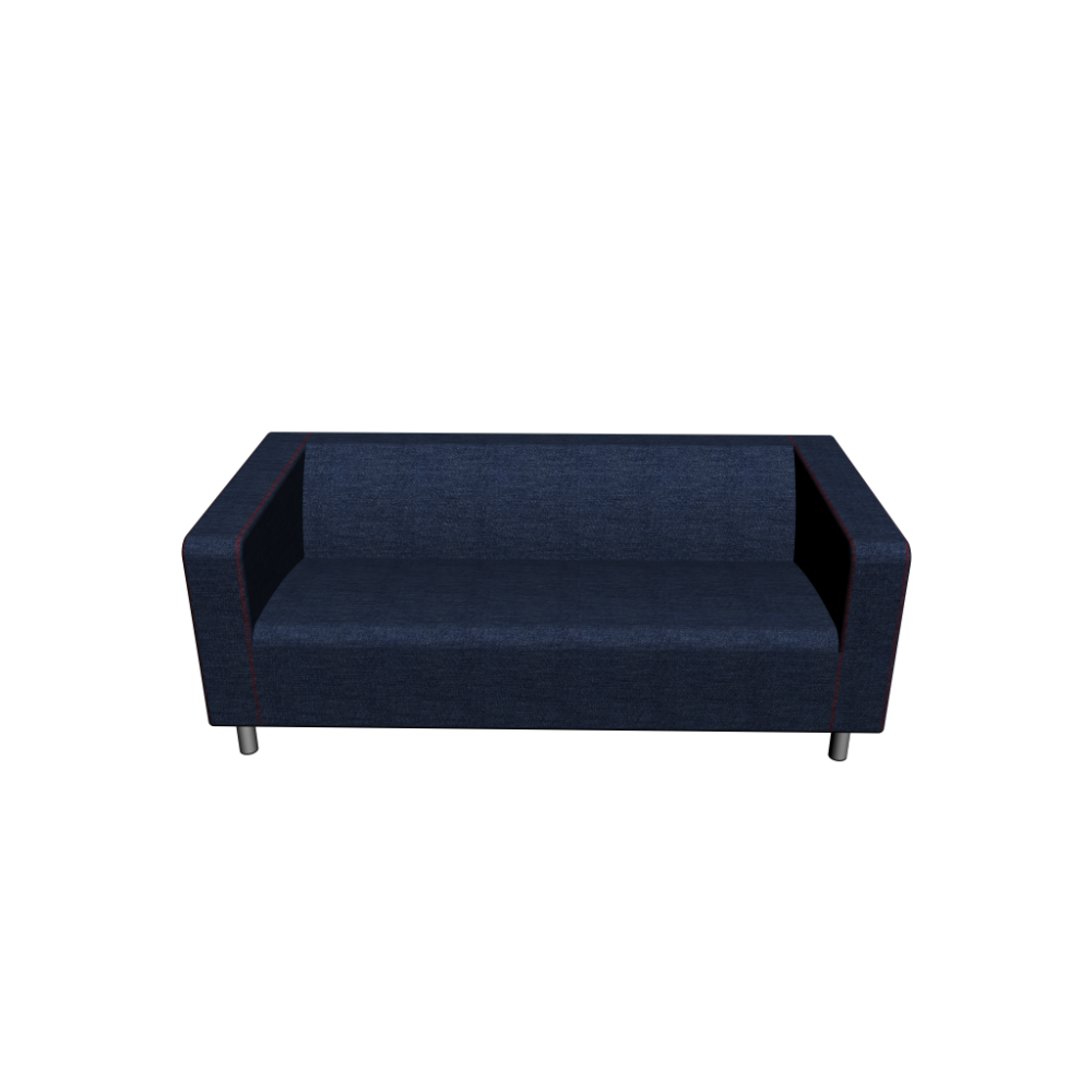 ikea klippan loveseat klippan 2er sofa vansta dunkelblau einrichten planen ikea klippan. Black Bedroom Furniture Sets. Home Design Ideas