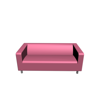 KLIPPAN 2er-Sofa, Granån rosa von IKEA