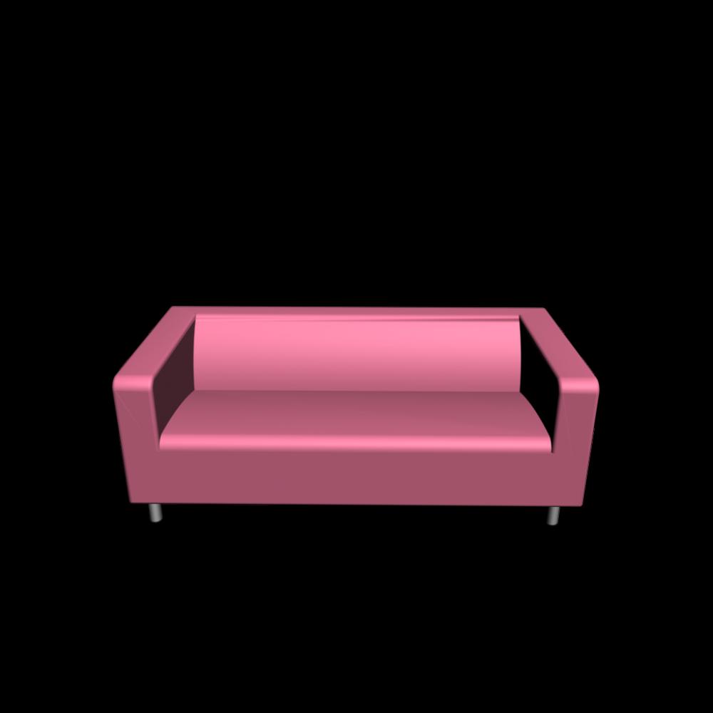 Klippan 2er sofa gran n rosa einrichten planen in 3d for Ikea sofa rosa