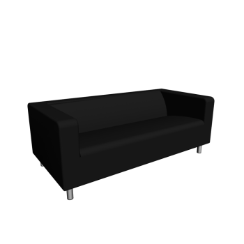 KLIPPAN 2er-Sofa, Granån schwarz von IKEA