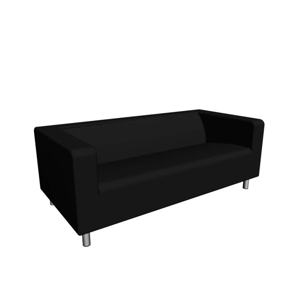 klippan 2er sofa gran n schwarz einrichten planen in 3d. Black Bedroom Furniture Sets. Home Design Ideas
