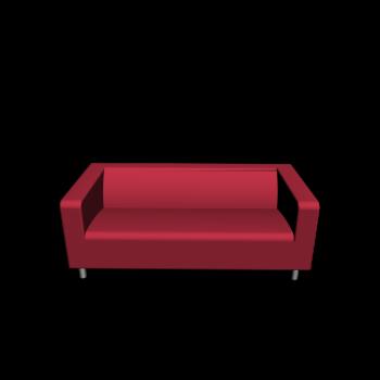 KLIPPAN 2er-Sofa, Granån rot von IKEA