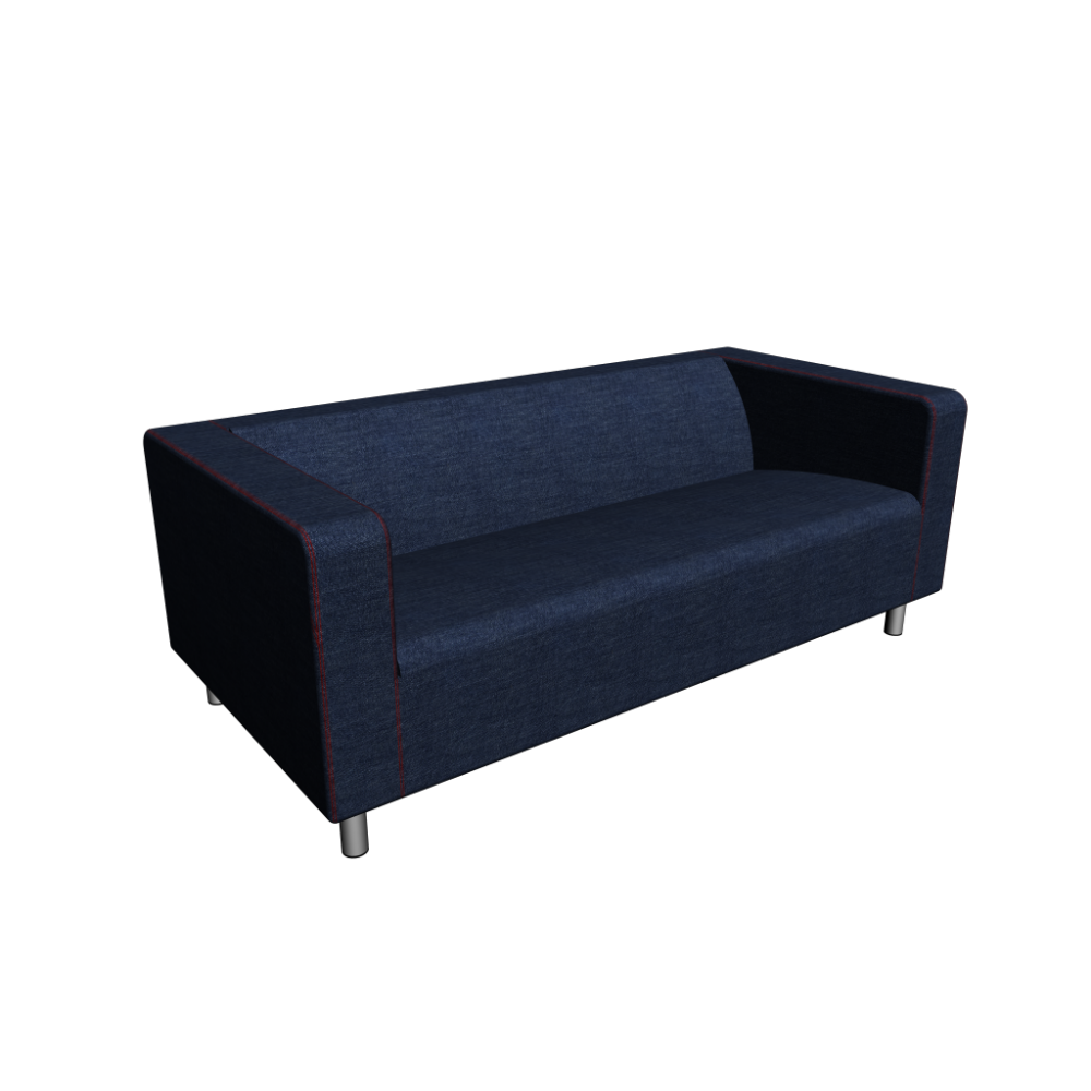 klippan 2er sofa vansta dunkelblau einrichten planen in 3d. Black Bedroom Furniture Sets. Home Design Ideas