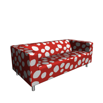 KLIPPAN Loveseat Dottevik red Design and Decorate Your Room in 3D