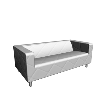 klippan loveseat genarp white design and decorate your. Black Bedroom Furniture Sets. Home Design Ideas