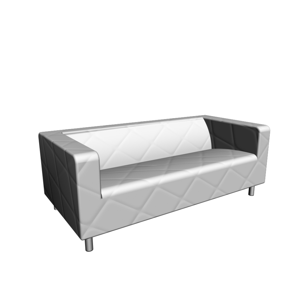 klippan loveseat genarp white design and decorate your room in 3d. Black Bedroom Furniture Sets. Home Design Ideas