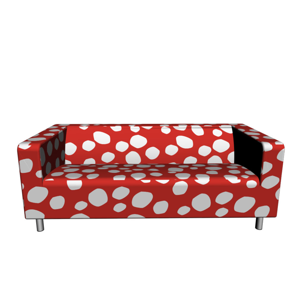 Klippan loveseat dottevik red design and decorate your room in 3d Klippan loveseat covers