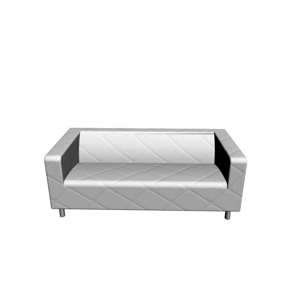 Klippan loveseat genarp white design and decorate your room in 3d - Klippan sofa ikea ...