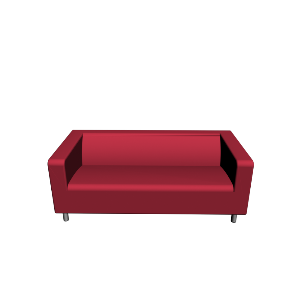 Klippan loveseat gran n red design and decorate your room in 3d - Klippan sofa ikea ...