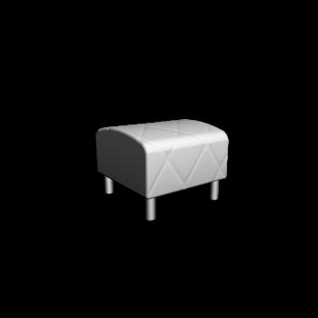 KLIPPAN Hocker + Hockerbezug Genarp weiß von IKEA