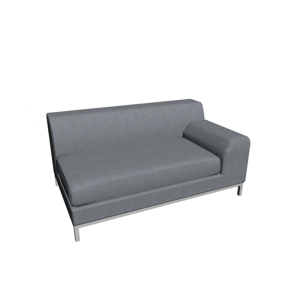 2er sofa ikea  KRAMFORS 2er Sofa right - Design and Decorate Your Room in 3D