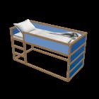 KURA Umbaufähiges Bett für die 3D Raumplanung