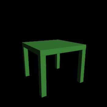 LACK Beistelltisch grün von IKEA