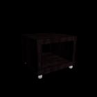 LACK Beistelltisch mit Rollen schwarzbraun für die 3D Raumplanung