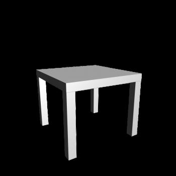 LACK Beistelltisch Hochglanz-weiß von IKEA