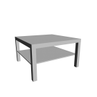 LACK Couchtisch weiß für die 3D Raumplanung