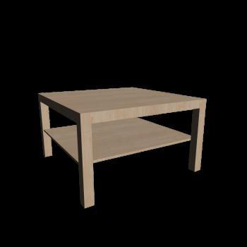 LACK Couchtisch Birkenachbildung von IKEA