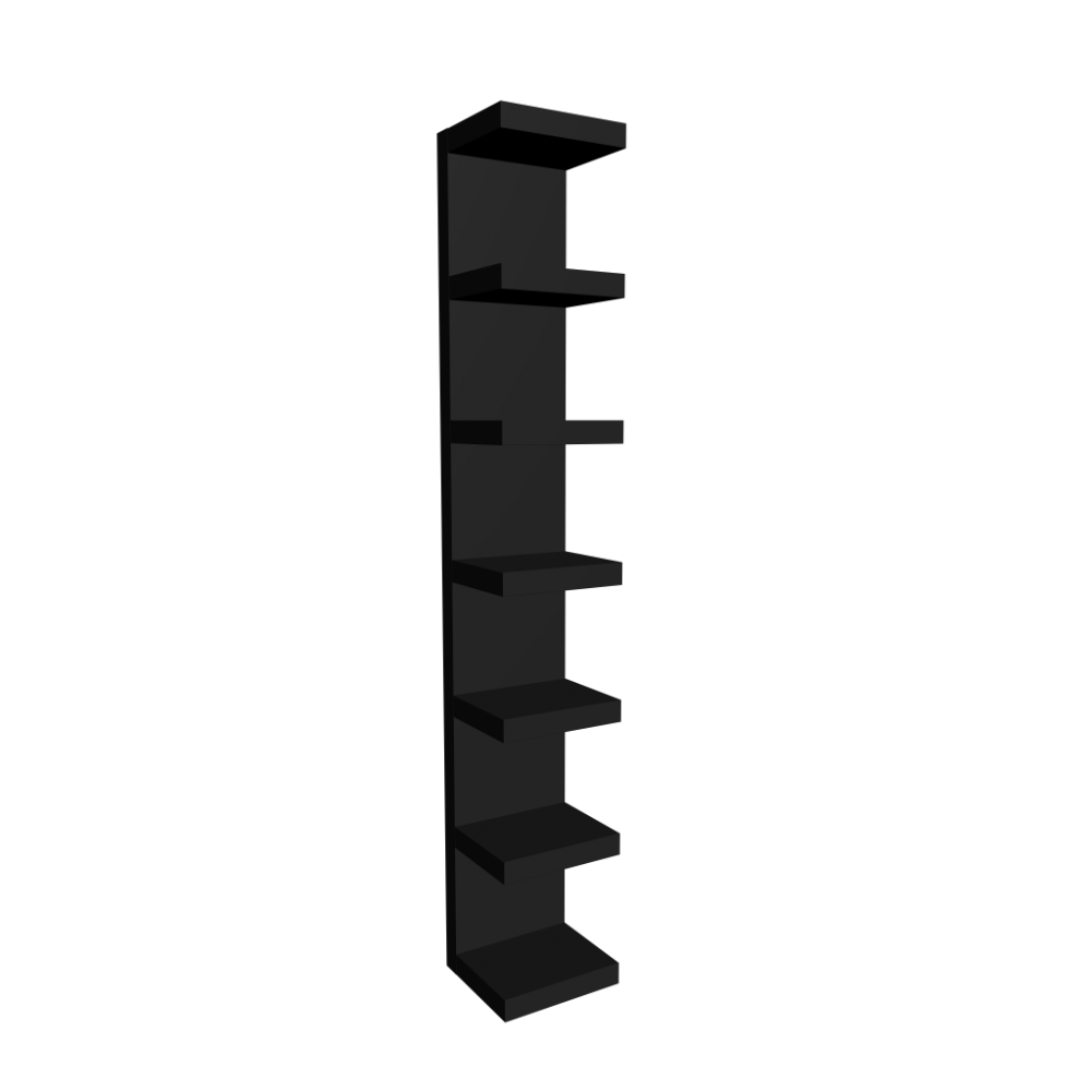 Lack Wall Shelf Black Design And Decorate Your Room In 3d