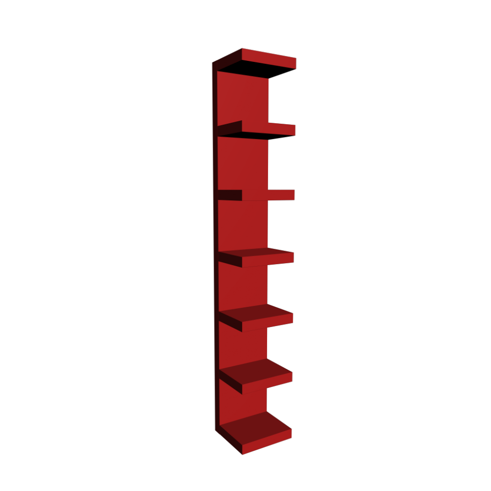 lack wall shelf red - design and decorate your room in 3d
