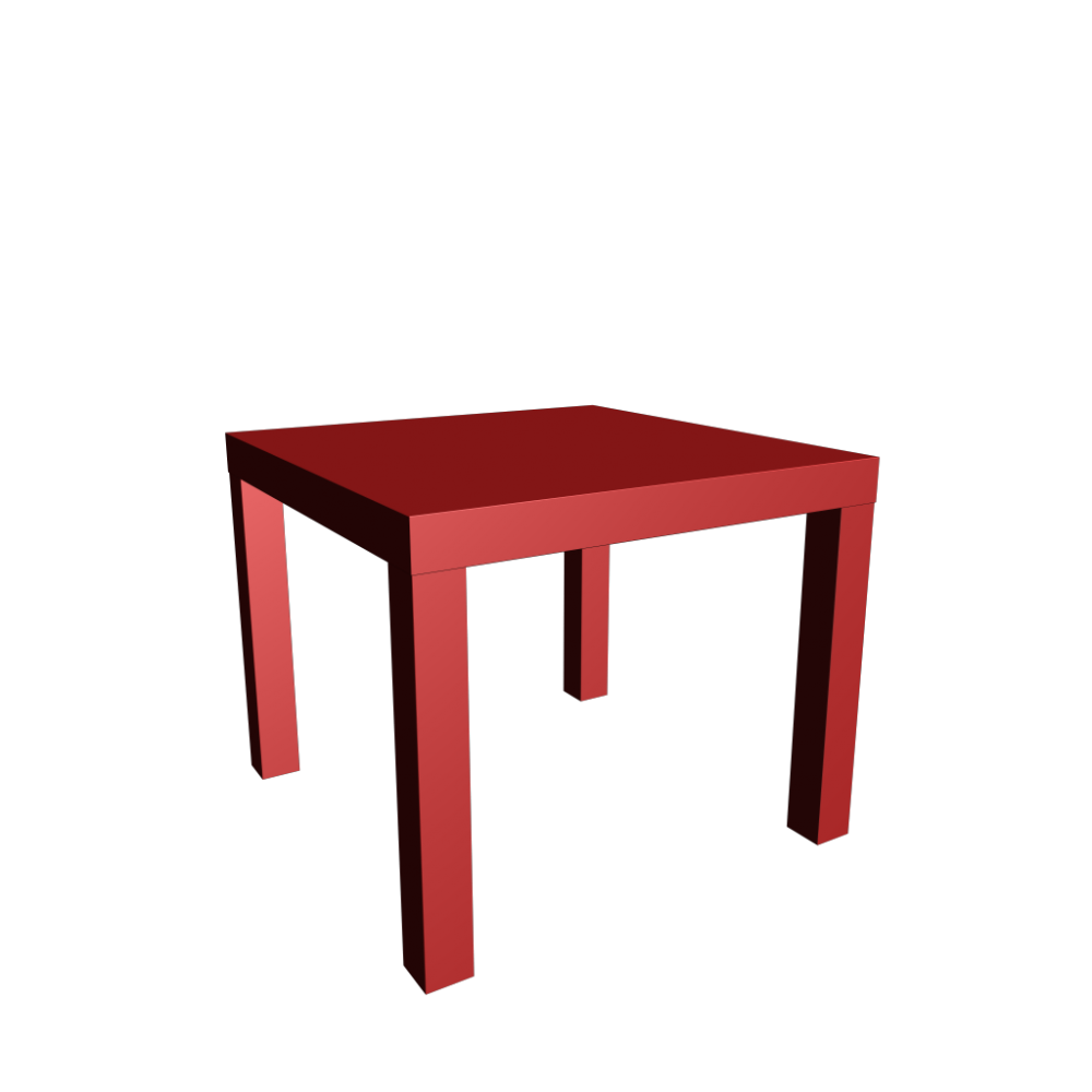 Lack side table design and decorate your room in 3d for Table en pin ikea