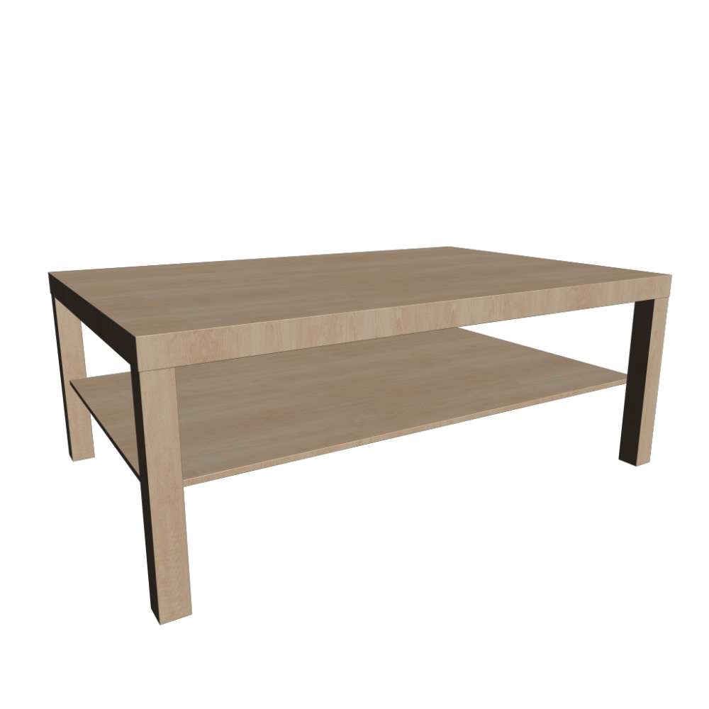 Lack Coffee Table Birch Effect Design And Decorate Your Room In 3d
