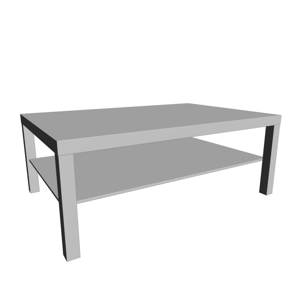LACK Coffee Table White Design And Decorate Your Room In 3D